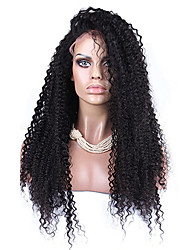 cheap -Synthetic Lace Front Wig Afro Kinky Curly Kinky Curly Afro Lace Front Wig Light Brown Black#1B Medium Brown Jet Black Dark Brown Synthetic Hair Women's Natural Hairline Black