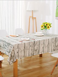 cheap -Square Patterned Table Cloth , Linen Material Hotel Dining Table Table Decoration