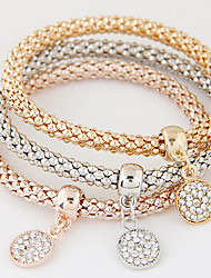 cheap -Women's Charm Bracelet Layered Stack Stacking Stackable Ladies Luxury European Simple Style Fashion Rhinestone Bracelet Jewelry Rainbow For Christmas Gifts Gift Daily / Imitation Diamond