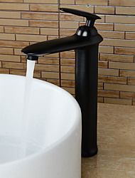 cheap -Bathroom Sink Faucet - Pre Rinse / Rain Shower / Widespread Antique Copper Centerset Single Handle One HoleBath Taps