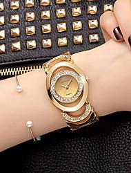 cheap -Women's Bracelet Watch Wrist Watch Diamond Watch Quartz Silver / Gold Imitation Diamond Analog Ladies Charm Sparkle Vintage Casual - Silver Rose Gold Gold / White Two Years Battery Life