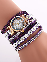 cheap -Women's Fashion Watch Bracelet Watch Analog Quartz Ladies Cool Imitation Diamond Colorful / Quilted PU Leather