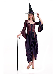 cheap -Witch Queen Cosplay Costume Movie Cosplay Dress Hat Halloween Carnival Polyester