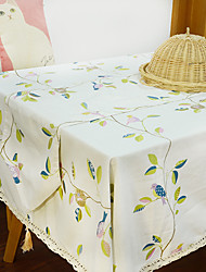 cheap -Square Toile Table Cloth , Polyester Material Hotel Dining Table Table Decoration