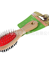 cheap -Cat Dog Cleaning Shower & Bath Accessories Wood Brush Soft Pet Grooming Supplies