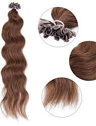 cheap -neitsi 20 50g lot curl wavy pre bonded u nail tip human hair extensions