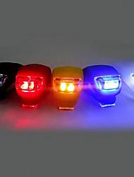 Недорогие -Светодиодная лампа Велосипедные фары Передняя фара для велосипеда Задняя подсветка на велосипед Силиконовый байк Горные велосипеды Велоспорт Велоспорт Безопасность Клемма Маленький размер карман