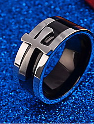 cheap -Men's Ring Silver Titanium Steel Personalized Daily Jewelry Cross