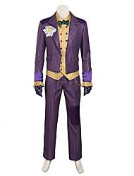 cheap -Joker Super Heroes Joker Cosplay Costume Party Costume Leather Solid Colored Cravat For Men's / Coat / Blouse / Pants / Gloves / Women's