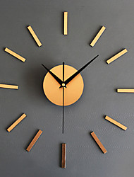 cheap -Wall Clock,Modern Contemporary Retro Acrylic Glass Metal Round Indoor / Outdoor