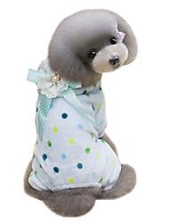 cheap -Dog Coat Hoodie Jumpsuit Winter Dog Clothes Blue Beige Costume Cotton Polka Dot Keep Warm S M L XL XXL