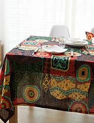 cheap -Rectangular Patterned Table Cloth , Cotton Blend Material Hotel Dining Table Table Decoration