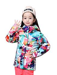 cheap -GSOU SNOW Ski Jacket Ski / Snowboard Winter Sports Thermal / Warm Waterproof Windproof Polyester Winter Jacket Ski Wear / Breathable / Kid's / Breathable