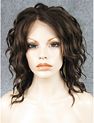 cheap -Synthetic Lace Front Wig Wavy Wavy Lace Front Wig Blonde Brown Blonde Synthetic Hair Women's Natural Hairline Blonde Brown