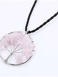 cheap -Pendant Necklace faceter Wire Wrap Tree of Life life Tree Ladies Fashion Silver Rainbow Red / White Black / Blue Necklace Jewelry For Birthday Gift Daily