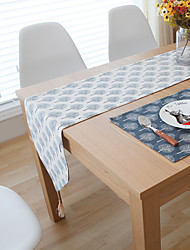 cheap -Rectangular Floral Patterned Table Runner , Linen Material Hotel Dining Table Table Decoration