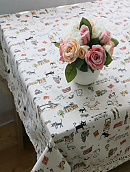 cheap -Rectangular Patterned Animal Placemat , Cotton Blend Material Hotel Dining Table Table Decoration