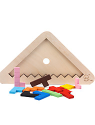 cheap -Building Blocks For Gift  Building Blocks Triangle Wood Rainbow Toys