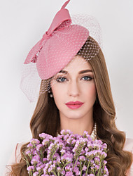 cheap -Wool / Tulle / Net Kentucky Derby Hat / Fascinators / Hats with Floral 1pc Wedding / Special Occasion / Casual Headpiece