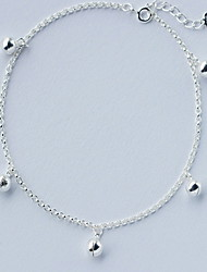cheap -Women's Anklet Dainty Ladies Fashion Delicate Sterling Silver Anklet Jewelry Silver For Daily Casual