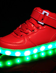 cheap -Girls' LED / Comfort / LED Shoes Synthetics Sneakers Little Kids(4-7ys) / Big Kids(7years +) Hook & Loop / LED / Luminous White / Black / Red Spring / Rubber