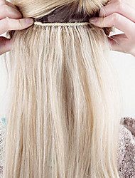 cheap -16 24thick full head one piece 5 clips in 100 real human hair extension 150g