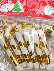 cheap -6PCS The Christmas Tree Ornaments Small Candy Canes 7CM Random Color