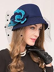 Недорогие -шерстяная сетка факсимиляторы шляпы головной убор классический женский стиль