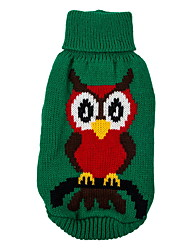 cheap -Dog Sweater Christmas Winter Dog Clothes Green Red Costume Cotton Animal XS S M L XL