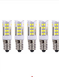 cheap -5pcs 5 W LED Corn Lights 2700-3000/6000-6500 lm E14 T 51 LED Beads SMD 2835 Warm White Cold White 220 V / 5 pcs / RoHS