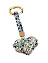 cheap -Keychain Key Chain Diamond Glow Heart Metalic Adults' Toy Gift