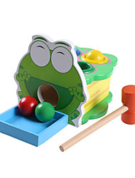 cheap -Hammering / Pounding Toy Balls Baby & Toddler Toy Novelty Education Frog Wooden Wood Cartoon 1 pcs Kid's Boys' Girls' Toy Gift