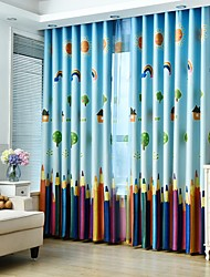 cheap -Custom Made Eco-friendly Blackout Curtains Drapes Two Panels For Bedroom