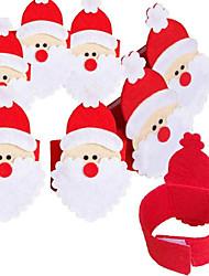 cheap -4Pcs Non-woven Napkin Set Of Santa Claus Napkin Ring