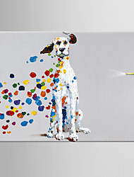 cheap -Oil Painting Hand Painted Pop Art Classic Modern Stretched Canvas With Stretched Frame