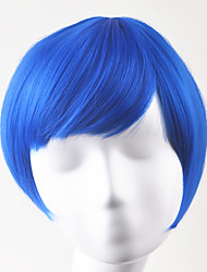 cheap -Synthetic Wig Straight Straight Bob Wig Short Blue Synthetic Hair Women's Blue