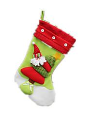 cheap -Christmas Gift Gift Bag Socks Santa Suits Elk Cloth Plush Boys' Girls' Toy Gift 1 pcs
