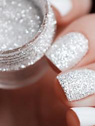 cheap -10ml box nail art glitter tips white silver 1mm 2mm 3mm mixed accessories