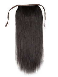 cheap -Clip In Human Hair Extensions Classic Ponytails Human Hair