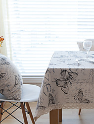 cheap -Square Patchwork Animal Table Cloth , Linen Material Hotel Dining Table Table Decoration