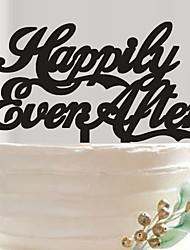 cheap -English letters acrylic wedding cake birthday cake inserted card