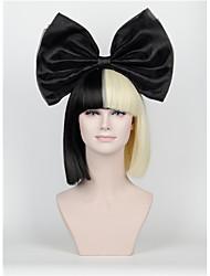 cheap -Synthetic Wig Straight Kardashian Straight Bob With Bangs Wig Short Natural Black Synthetic Hair Women's Black