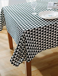 cheap -Square Floral Patterned Table Cloth , Cotton Blend Material Hotel Dining Table Table Decoration