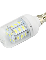 cheap -1pc 3W E14 LED Corn Bulb 27 SMD 5730 DC/AC 12 - 24V AC 110 - 220V Warm / Cold White