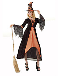 cheap -Witch Women's Christmas Halloween Carnival Festival / Holiday Polyester Women's Carnival Costumes Solid Colored Lace