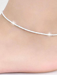 cheap -Anklet Simple Simple Style Small Women's Body Jewelry For Casual Daily Copper Silver