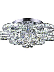 cheap -1-Light 80 cm Crystal / LED Flush Mount Lights Metal Chrome Modern Contemporary 110-120V / 220-240V