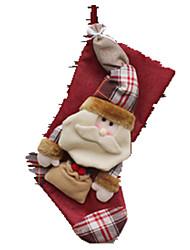 Недорогие -Овечья шерсть Костюмы Санта Клауса Elk Шерсть текстильный Ткань Мальчики Девочки Игрушки Подарок 1 pcs