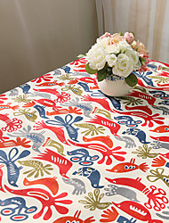 cheap -Square Patterned Animal Table Cloth , Cotton Blend Material Hotel Dining Table Table Decoration