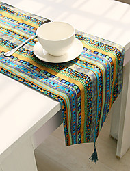 cheap -Rectangular Floral Patterned Table Runner , Cotton Blend Material Hotel Dining Table Table Decoration